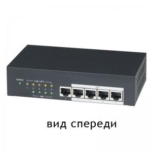 IP05H Коммутатор PoE 5-портовый, 10/100/1000M, поддерживает стандарт IEEE 802.3af