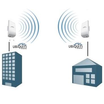 WiFi мост (комплект 2 x Ubiquiti NanoStation Loco M2)