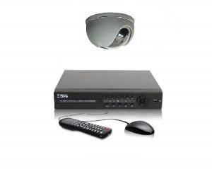 Комплект видеонаблюдения из одной видеокамеры с возможностью просмотра через Интернет.