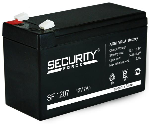 Аккумулятор SF 12В/7 А/ч (АКБ SF 1207)