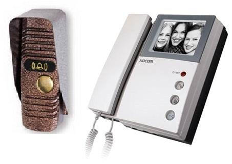 KVM-301EV/JSB-V05M комплект видеодомофона с вызывной панелью