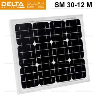 Солнечная панель (модуль) Delta SM 30-12 M (12В / 30Вт)