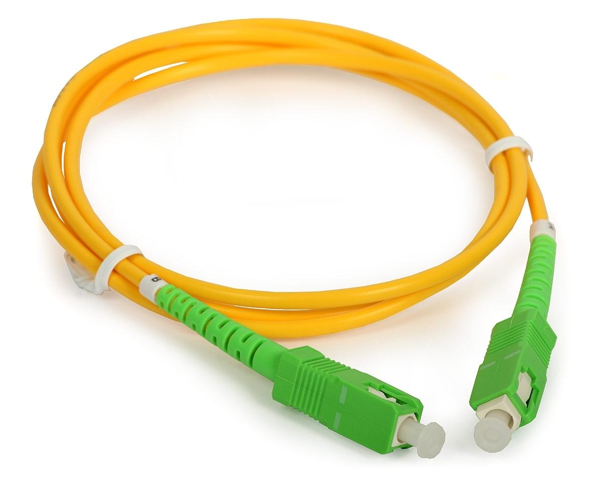 Оптический шнур SC/APC, SM, 1 м.