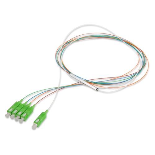 Разветвитель оптический РО 1×4 PLC 0,9mm 1m SC/APC (Миникорпус)