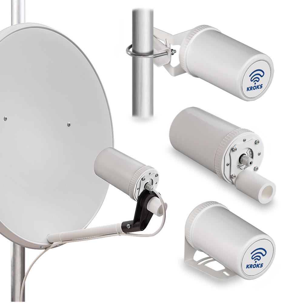 Комплект KSS-Pot MIMO для установки 3G/4G USB модема в спутниковую тарелку 1898