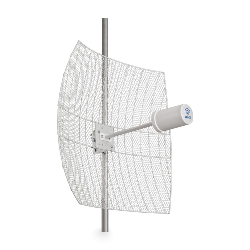 Kroks Rt-Pot 24Grid eQ — параболическая MIMO антенна 24 дБ со встроенным роутером и модемом 1805